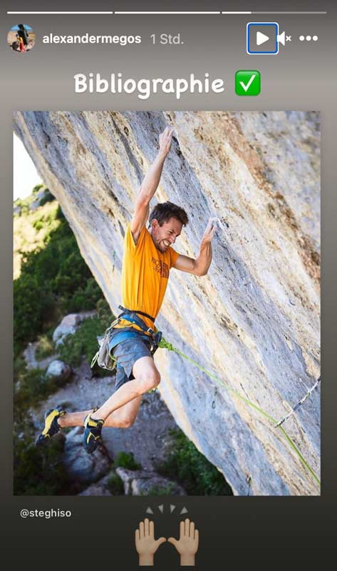 Alex Megos immediately congratulates Stefano Ghisolfi on the red point ascent of bibliography (9c).